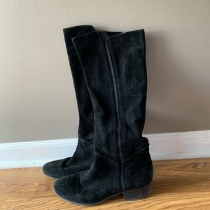 Suede knee-high Black Boots